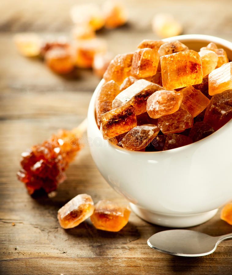 Brown cukier. Trzcina cukier obrazy royalty free