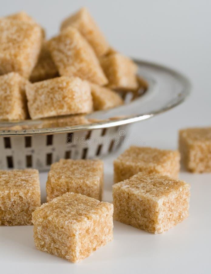 Brown cukieru sześciany zdjęcie stock