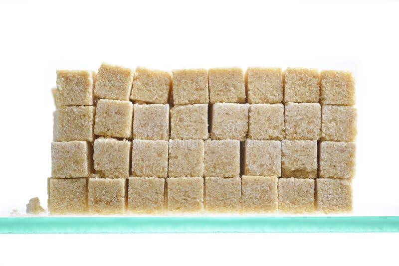 Brown cukieru sześciany zdjęcie royalty free