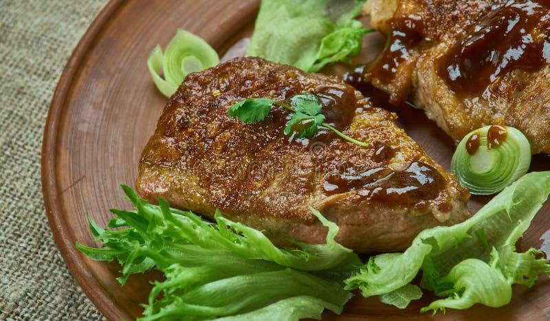 Brown cukieru wieprzowiny kotleciki zdjęcie stock