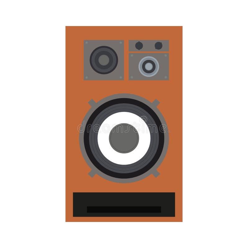 Brown dźwięka mówca w retro stylu fotografia stock