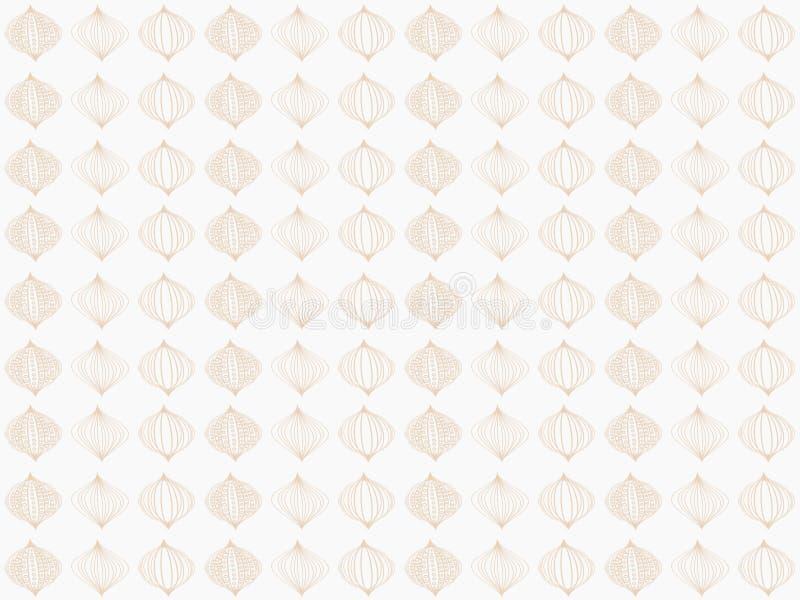 Download Brown Damask Seamless Wallpaper Stock Illustration - Illustration of baroque, brown: 17413303