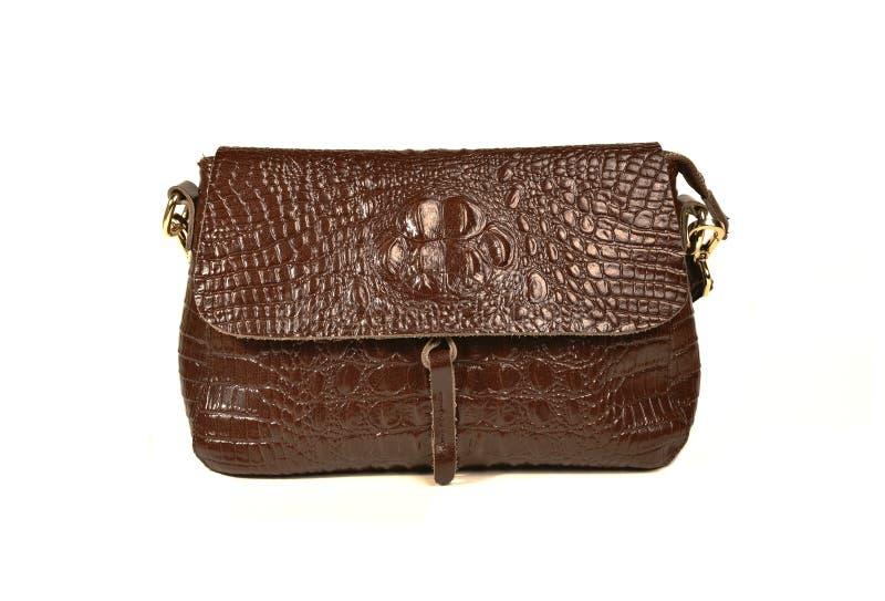 Brown-Damentasche lizenzfreie stockfotografie