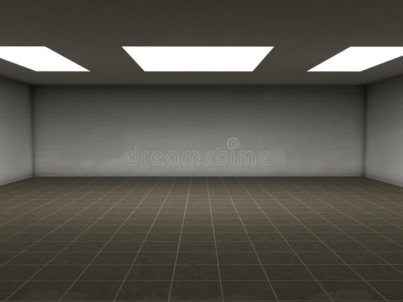 Brown deckt Raum mit Ziegeln vektor abbildung