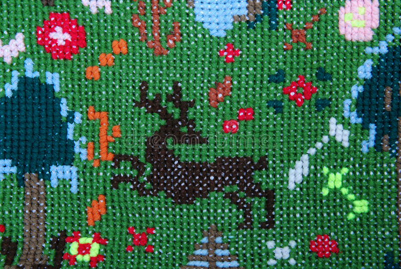 Brown deer stock image