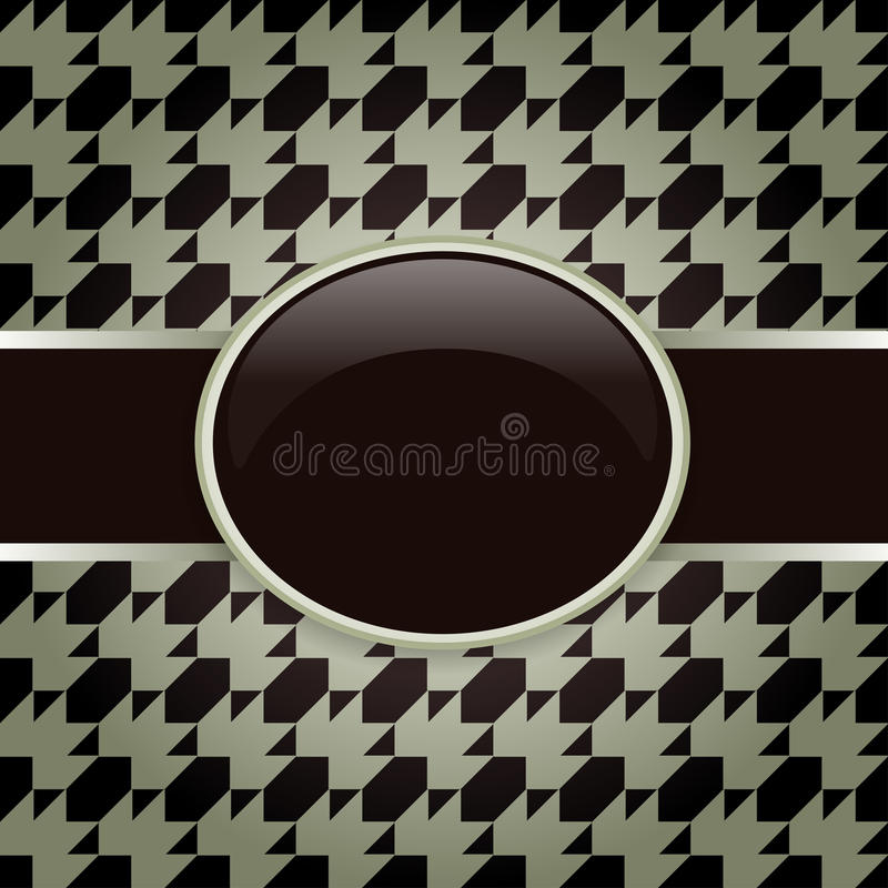 Brown Design Pattern Card Royalty Free Stock Photo