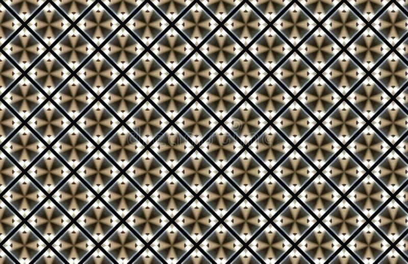 Brown diamentu kwadrata abstrakta wzoru Biały projekt ilustracja wektor