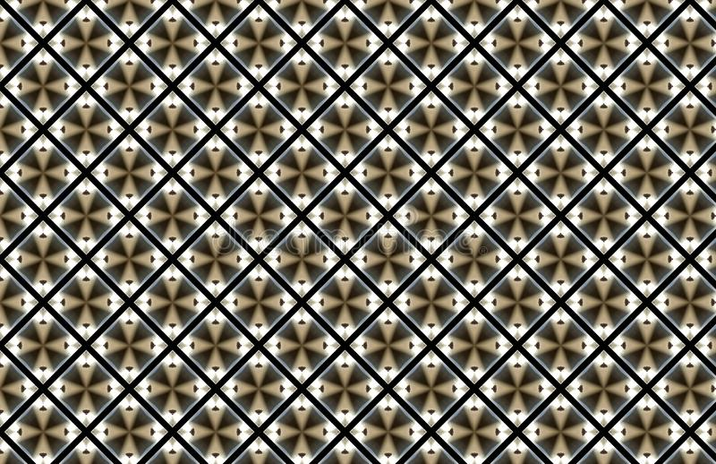 Brown Diamond Square Abstract Pattern Design branco ilustração do vetor