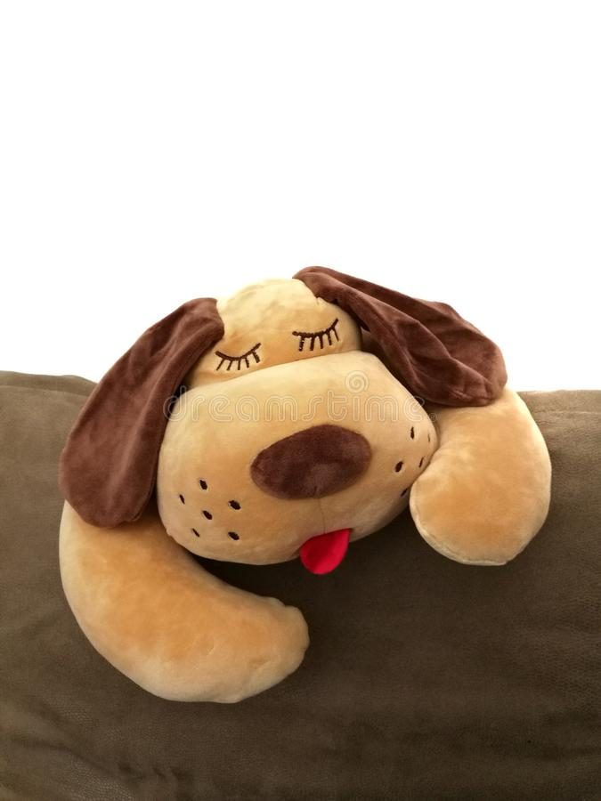 Brown dog doll stock photo