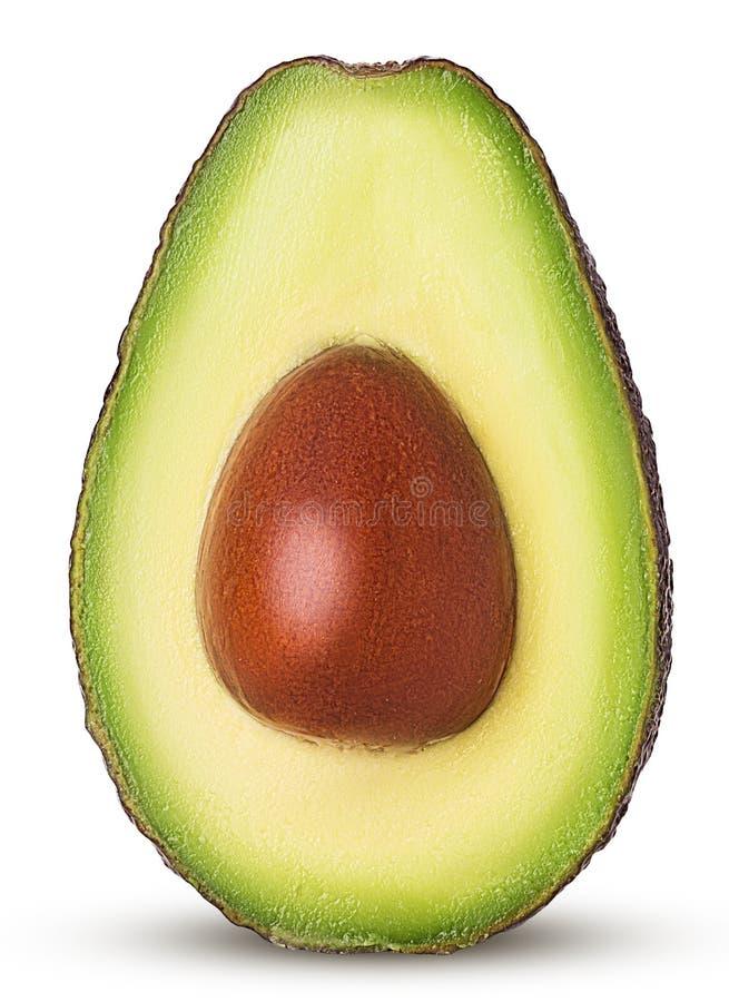 Brown dojrzały avocado ciie w połówce z kością fotografia royalty free