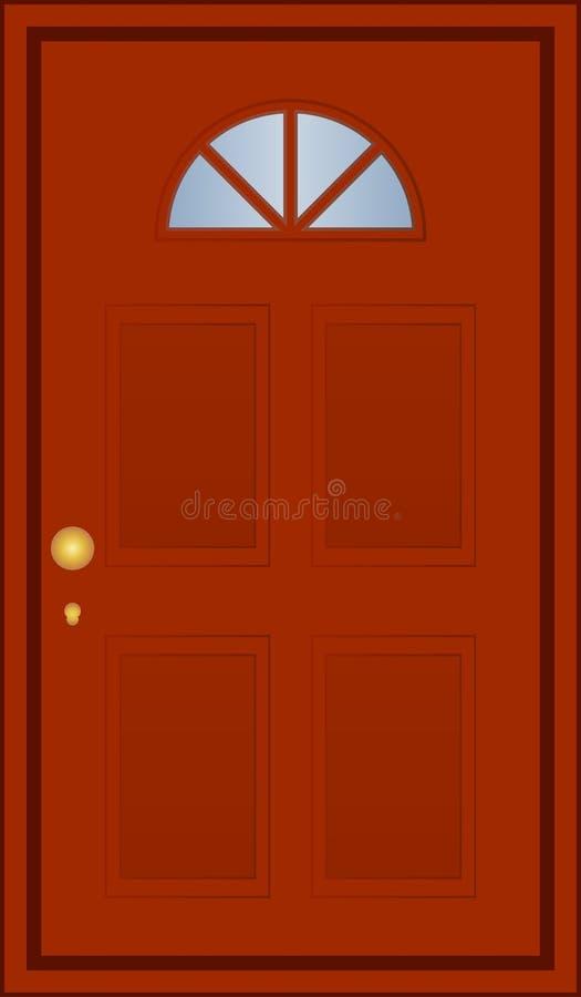Download Brown door stock vector. Image of home, open, hope, isolated - 25360158