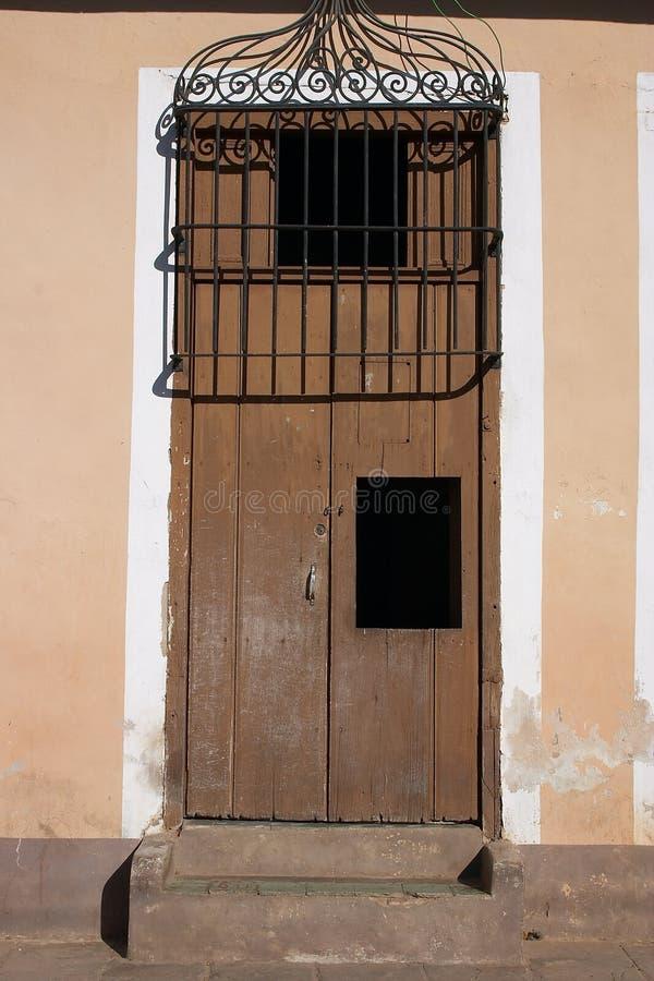 Brown door stock photos