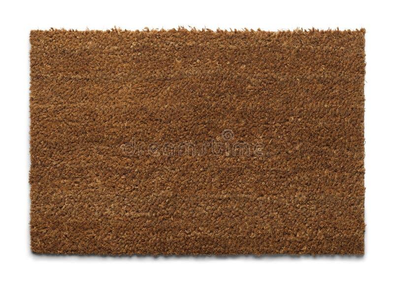 Brown Door Mat stock photo