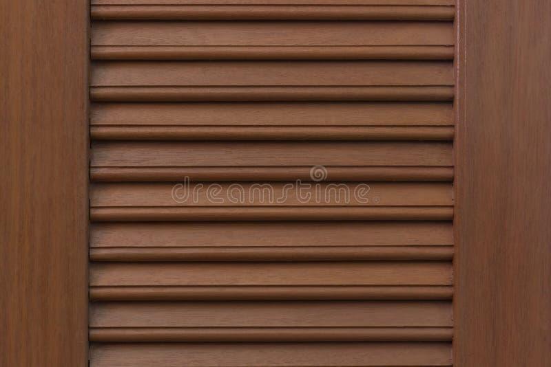 Brown drewniana drzwiowa tekstura zdjęcia stock