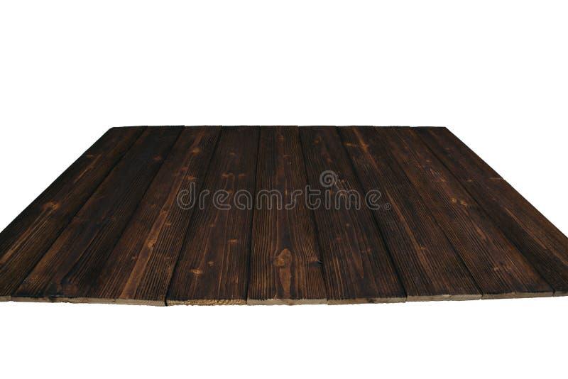 Brown drewniana tekstura z naturalnym pasiastym wzorem dla tła ja fotografia stock