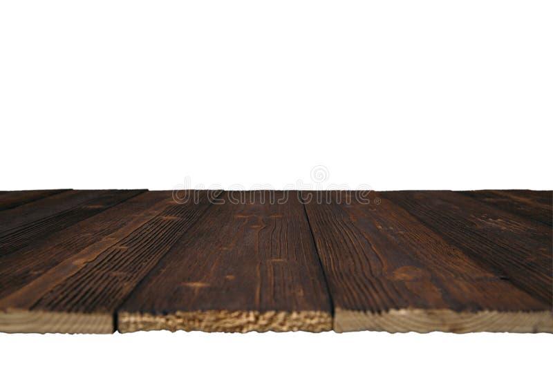 Brown drewniana tekstura z naturalnym pasiastym wzorem dla tła ja obrazy stock