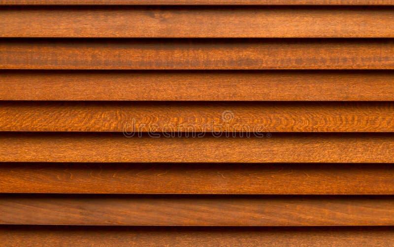 Brown drewniana zasłona zdjęcia stock