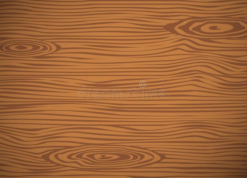Brown drewniany kotlecik, tnąca deska, Kwadratowa wektorowa drewniana tekstura ilustracji