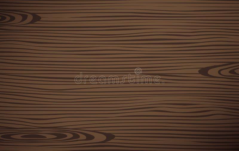 Brown drewniany kotlecik, tnąca deska, Kwadratowa wektorowa drewniana tekstura ilustracja wektor