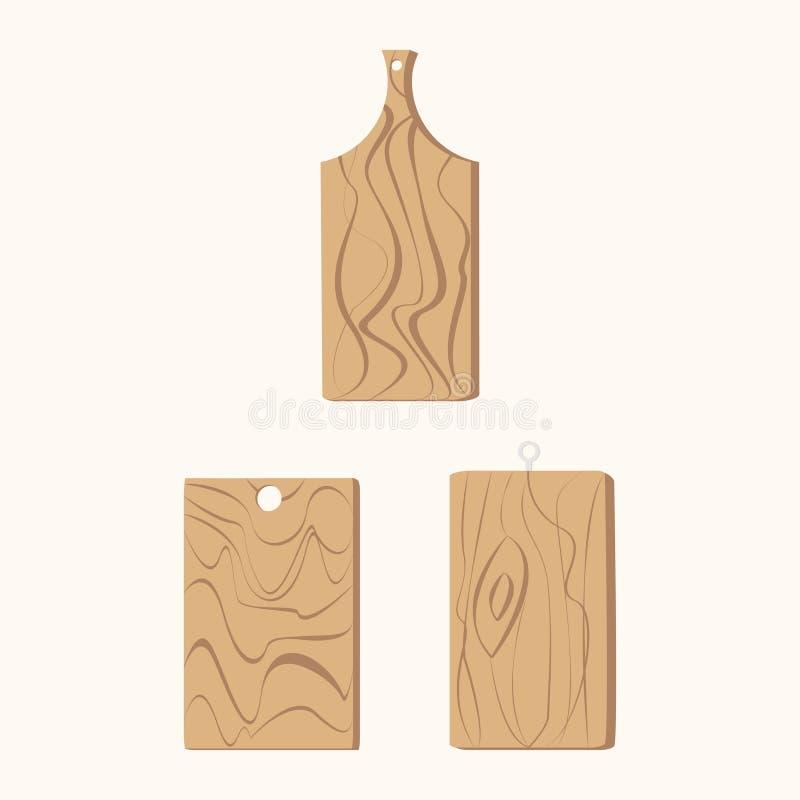 Brown drewniany rozcięcie ilustracji