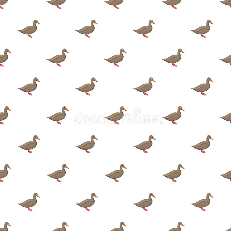 Brown duck pattern seamless. Repeat background for any web design royalty free illustration