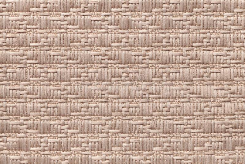 Brown dział woolen tło z wzorem miękka część, wełnisty płótno Tekstura tekstylny zbliżenie zdjęcia royalty free
