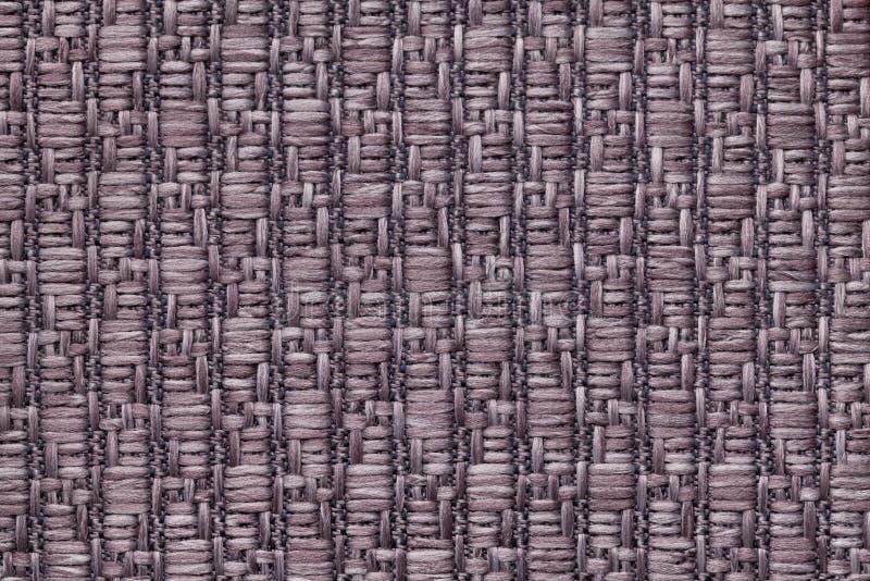 Brown dział woolen tło z wzorem miękka część, wełnisty płótno Tekstura tekstylny zbliżenie obrazy stock