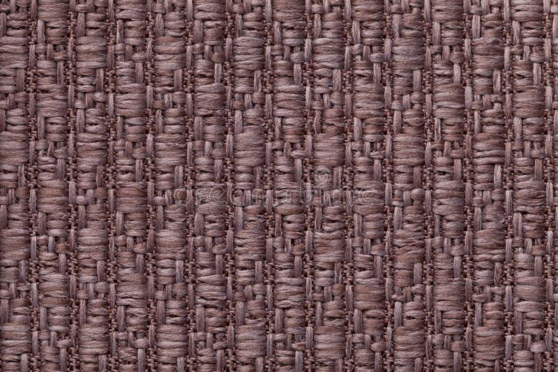 Brown dział woolen tło z wzorem miękka część, wełnisty płótno Tekstura tekstylny zbliżenie zdjęcie stock