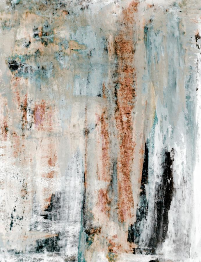 Brown e Art Painting astratto beige fotografia stock