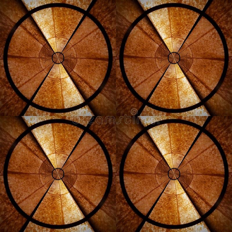 Brown e 3D redondo imagem de stock