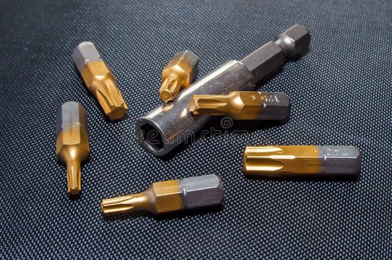 Brown e Grey Tool Part imagens de stock