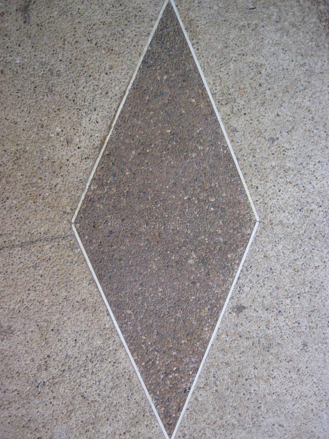 Brown e mosaico bianco del rombo immagine stock libera da diritti