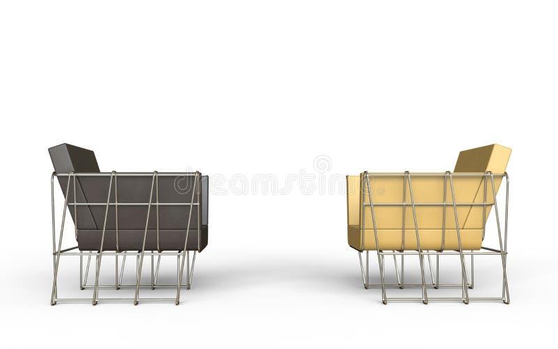 Poltrone Moderne.Brown E Poltrone Moderne Beige Illustrazione Di Stock