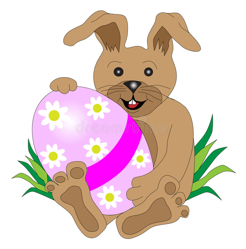 Brown easter gift stock image