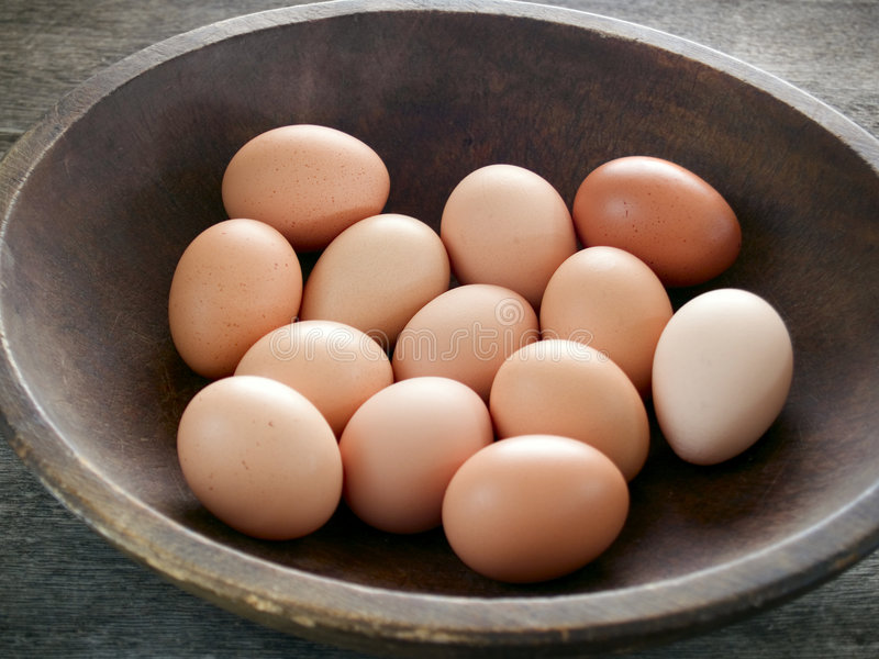 Download Brown eggs stock image. Image of uncooked, light, rustic - 7485357