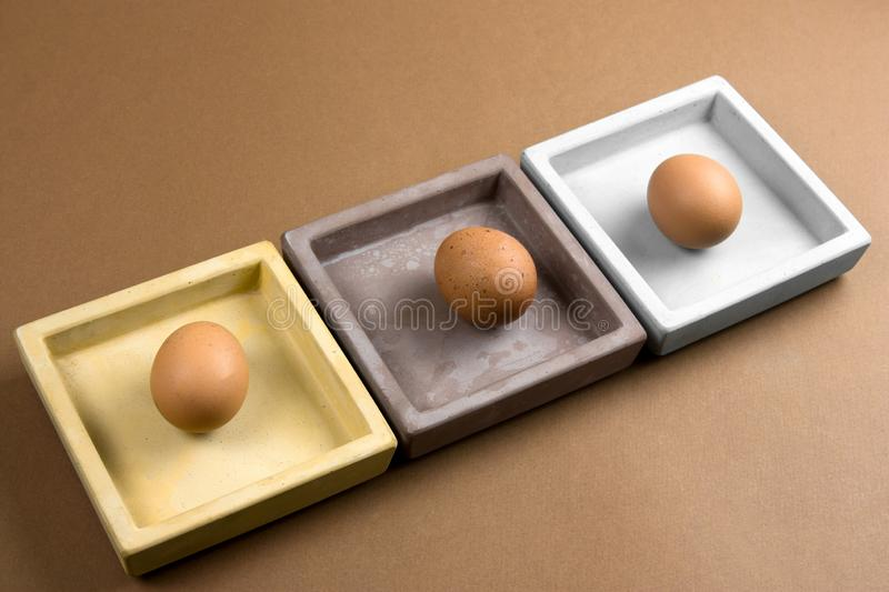 Brown eggs pattern royalty free stock photography