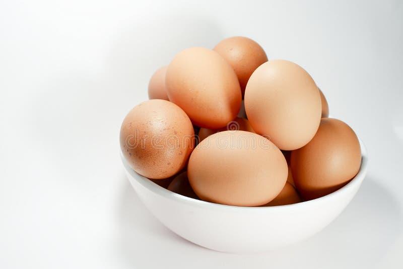 Brown-Ei im Schlag lizenzfreies stockbild