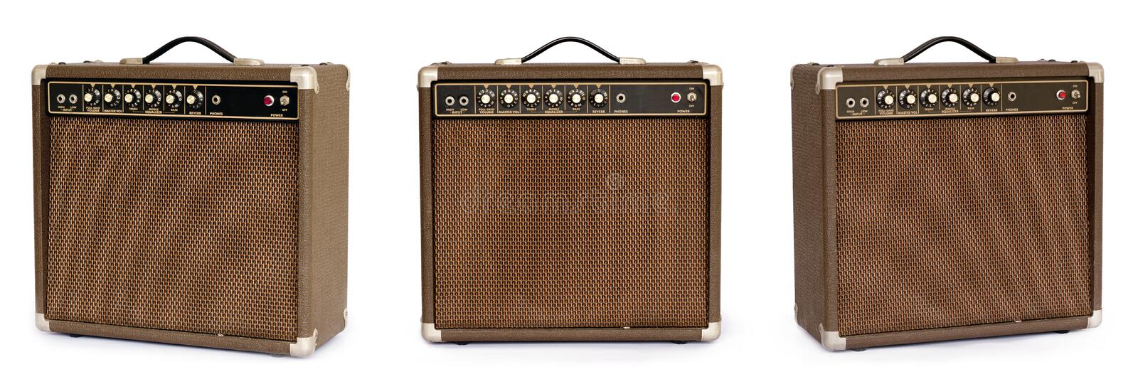 Brown electric guitar amplifier royalty free stock images