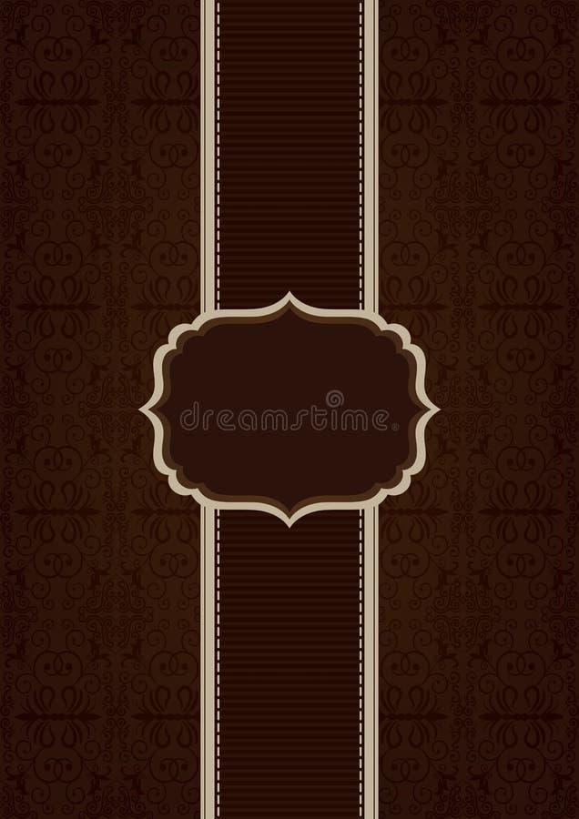Brown elegant decorative background vector illustration