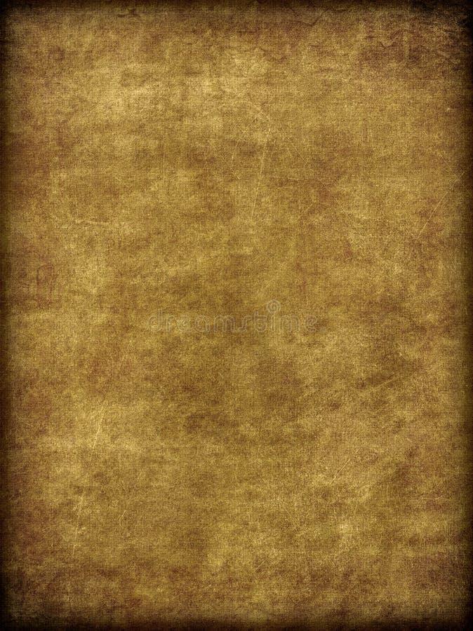 Brown envejeció y arpillera desgastada como textura stock de ilustración