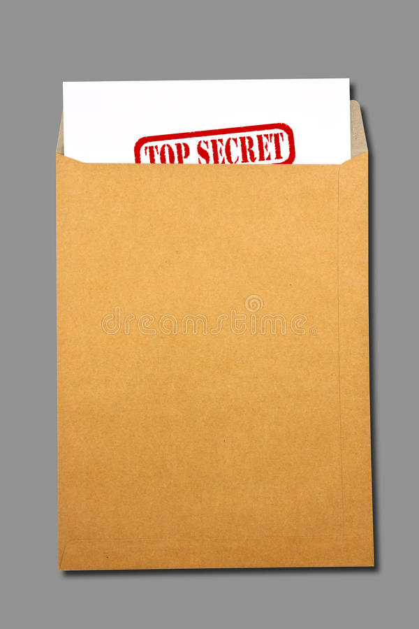 Download Brown Envelope Document With Paper Stock Image - Image of envelop, blank: 39510843