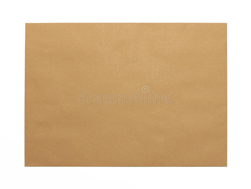Brown Envelope document on white background stock photo