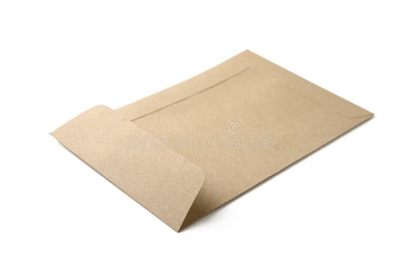 Brown envelope stock image