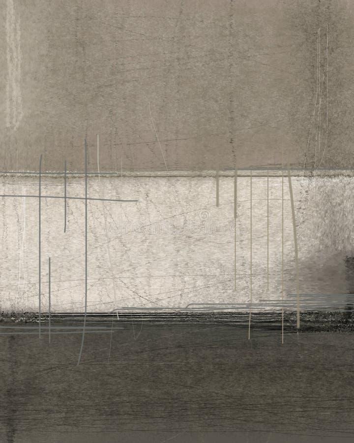 Brown et Art Painting abstrait beige illustration stock