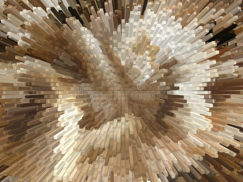 Brown et explosion blanche image stock
