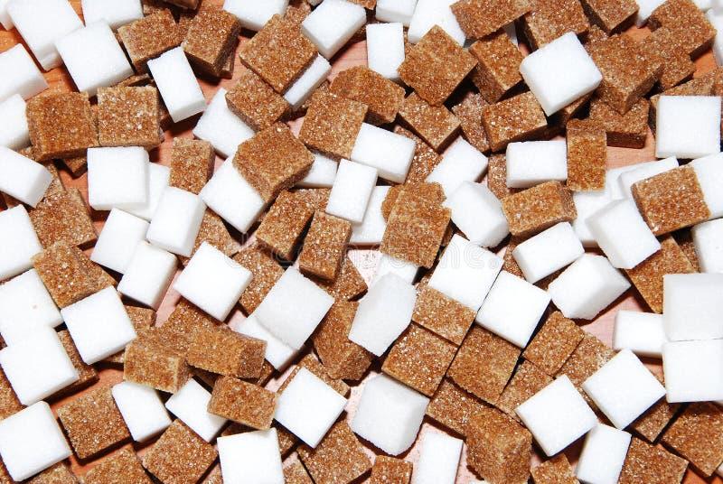 Brown et sucre blanc image stock