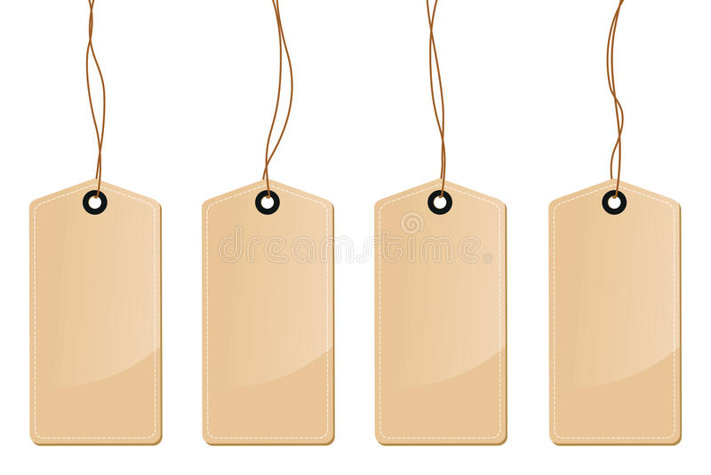 Brown etykietki etykietki ilustracja wektor