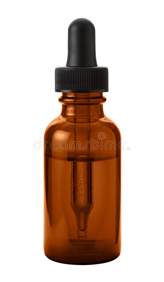 Brown Eye Dropper Bottle royalty free stock image