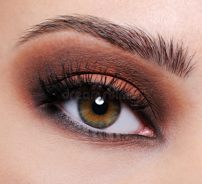 Free Brown Eye Make-up Royalty Free Stock Image - 11294156