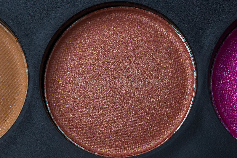 Brown eye shadow stock images